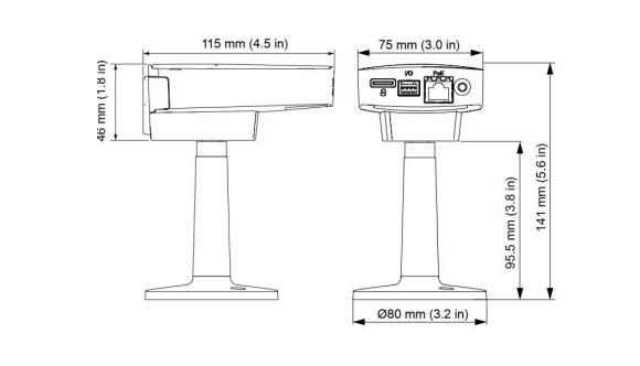 IPカメラ Axis ネットワークカメラ M1145 製品図解