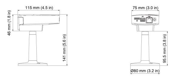IPカメラ Axis ネットワークカメラ M1145-L 製品図解