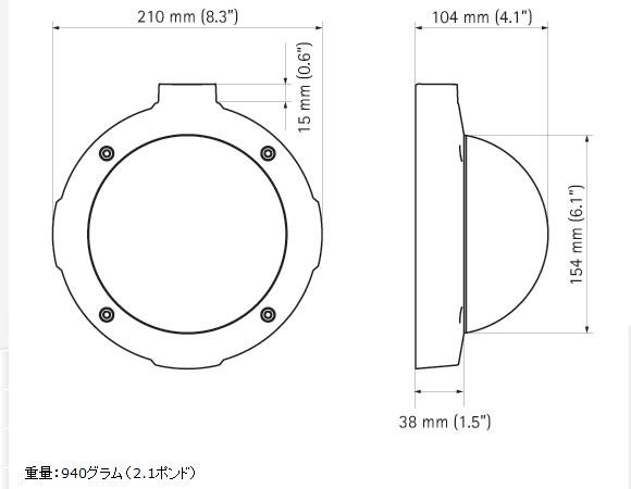 IPカメラ Axis ネットワークカメラ M5014-V 製品図解
