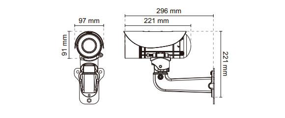 IPカメラ VIVOTEK ネットワークカメラ IP8365EH 製品図解
